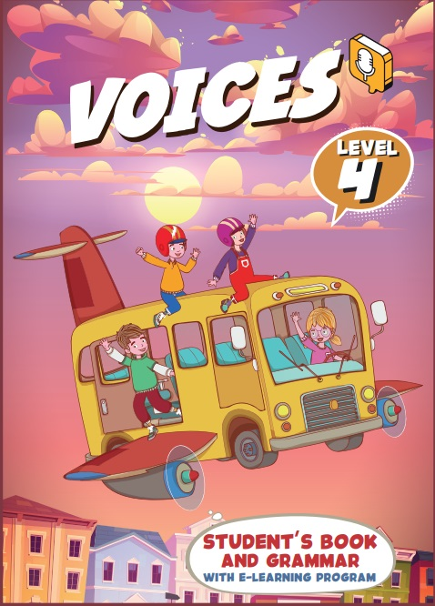 voices 4 – student book cover300x415